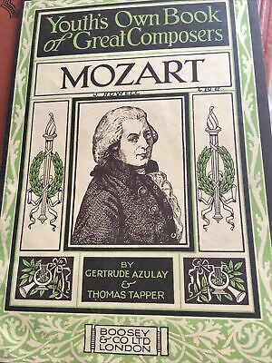£6 • Buy Youth's Own Book Of Great Composers - Mozart 1930  Gertrude Azulay Illustrated