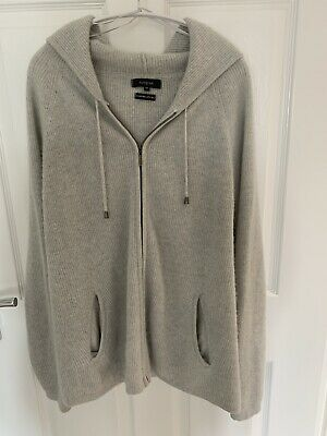 £27 • Buy Marks And Spencer Autograph Cashmere/ Silk Zip Up Hooded Cardigan