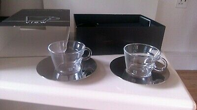 £9.99 • Buy Nespresso View X2 Cappuccino Cups & Saucer Set - New Boxed (box Has Minor Marks)