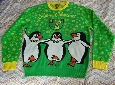 $20.79 • Buy Norwich City Football Christmas Jumper Adult Men's XL Extra Large 2019 Penguins