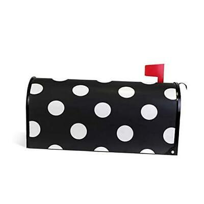 $26.09 • Buy  Home Garden Polka Dot Black Pattern Magnetic Mailbox Cover Stand 20.8  X 18