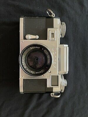 $ CDN251.77 • Buy Zeiss IKON Contax IIIa With Sonnar 1:2 50mm Red-T Lens & Hard Case- N. Mint