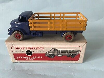 £60 • Buy Vintage Dinky Supertoys 531 - Leyland Comet Lorry - Blue Yellow, Boxed