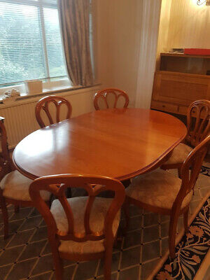 £180 • Buy Younger Cherrywood Extending Dining Table And 6 Chairs