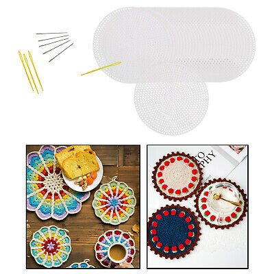 £4.89 • Buy 30Pcs Circle Plastic Canvas Sheets Kit For Embroidery Needlepoint Crochet