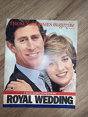 £1 • Buy Charles & Diana - Sunday Times Supplement - Royal Wedding August 2 1981