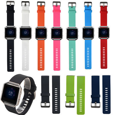 AU5.37 • Buy For Fitbit Blaze Silicone Replacement Wristband Sport Wrist Strap Watch Band