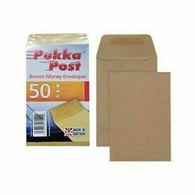 £2.50 • Buy 50 Wage Envelopes Cash Earnings Packet Self Seal Pay Cash Coin Money