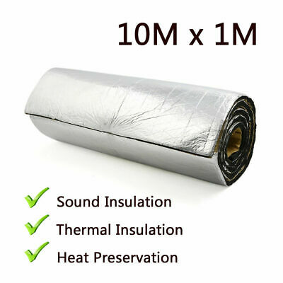 £9.99 • Buy 10㎡ 7mm Insulation Foil Thermal Foam Adhesive Van Acoustic Sound Proofing Roll