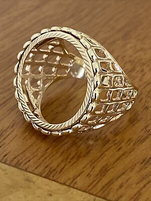 £365 • Buy Vintage Gents 9ct Gold Full Sovereign Ring Mount ~ Size X~ 7.4g~ Fab!