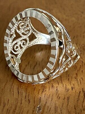 £179 • Buy Vintage Gents 9ct Gold Half Sovereign Ring Mount ~ Size M ~ 3.0g ~ Fab!