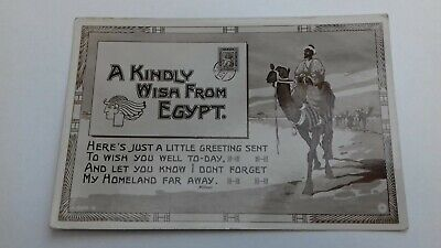 £3.20 • Buy Vintage Postcard A Kindly Wish From Egypt Real Photo Cairo Postcard Trust