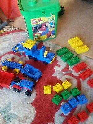 £16 • Buy VINTAGE Lego Duplo Tractor And Farm Machinery (2124) 3X VEHICLES 2X PEOPLE VGC