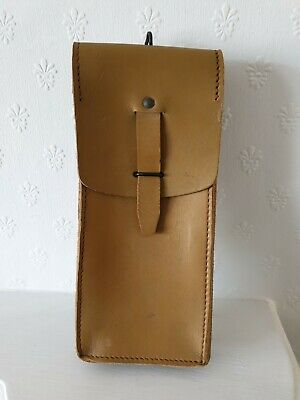 £8.50 • Buy Vintage Military Issue Long Leather Ammo / Utility Pouch / Holder Tan Colour