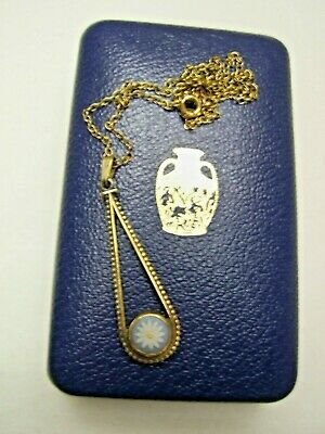 £49.50 • Buy Vintage Boxed Jasper Ware  Wedgwood Daisy Pendant Necklace G.p Sterling Silver