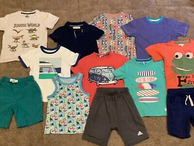 £3.20 • Buy Bundle Of Boys Shorts And T Shirts Age 3,4,5 Yrs Joules Blue Zoo Adidas Etc