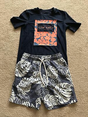 £2.50 • Buy Boys Swim Shorts And Sun Top Age 6-7 Yeats M&S & Gap Excellent Condition