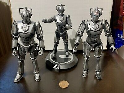 £9.99 • Buy Doctor Who 2x Figures Cyberman 6 Inch Excellent Condition + Die Cast Statue