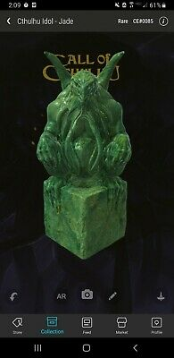 $849.99 • Buy #0085 VEVE Nft Jade Cthulhu Idol Statue SOLD OUT LOW MINT!!