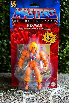 $32.99 • Buy He-Man Masters Of The Universe 5.5  New For 20 Mattel Retro Play Action Figure