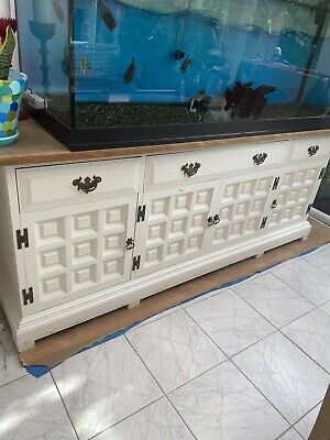 £85 • Buy Younger Toledo 4 Door Sideboard Upcycle Project Solid Oak Wood Must See