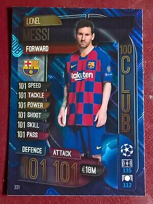 £1.95 • Buy Topps Match Attax 2019/20 Lionel Messi 100 101 Hundred Club Card  Number  331