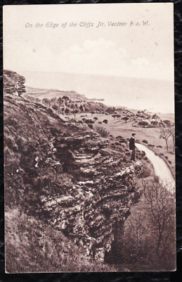 £1.99 • Buy 1914 - On The Edge Of The Cliffs Near Ventnor, Iow - Vintage A.a.norris Postcard