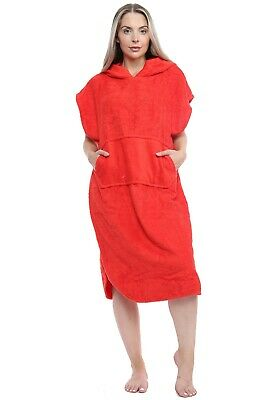 £16.99 • Buy Unisex Changing Robe 100% Cotton Hooded With Pocket Beach Poncho Swimming Surf