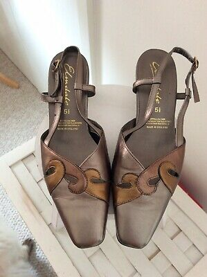 £4.50 • Buy Elmdale Bronze Leather Sling Back Shoes Size 5.5
