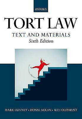 £1.70 • Buy Tort Law: Text And Materials By Donal Nolan, Ken Oliphant, Mark Lunney...