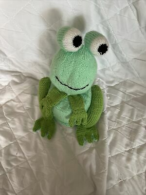 £2.50 • Buy Hand Knitted Green Frog Toilet Roll Cover