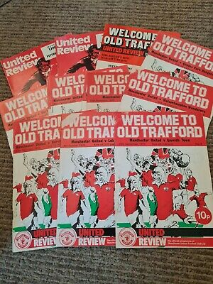 £0.99 • Buy 13 Manchester United 1975/76 Matchday Programs