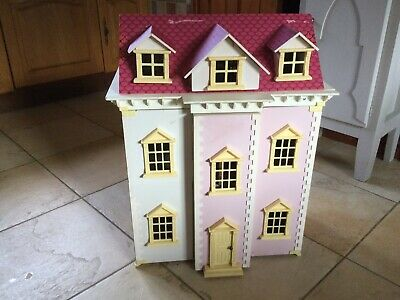 £20 • Buy Wooden Pink & Cream Victorian Style Dolls House