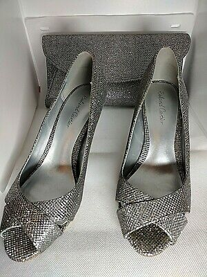 £39 • Buy Roland Cartier Grey Silver Pewter Shimmer Shoes And Matching Bag Size Uk 5