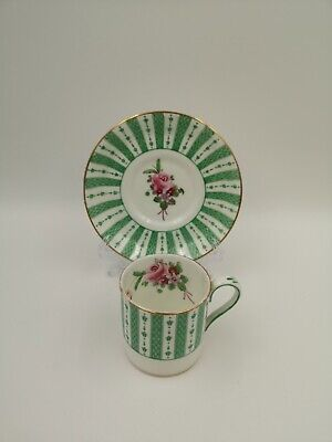£18 • Buy Antique Crown Staffordshire Flat Demitasse Coffee Cup And Saucer #F 9403