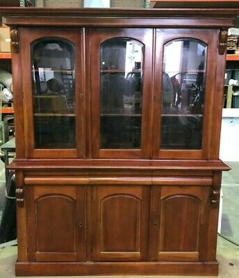 AU950 • Buy Victorian Chiffonier Style Timber Buffet/Bookcase Display Unit