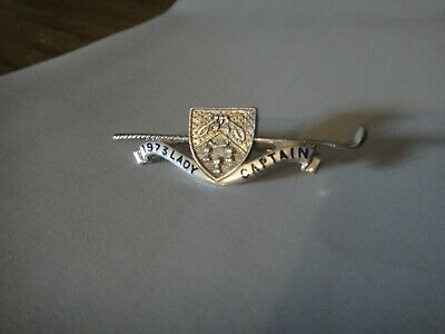 £10 • Buy Vintage 1973 Silver Golf Badge Lady Captain TJS Medal Nice Condition With Shield