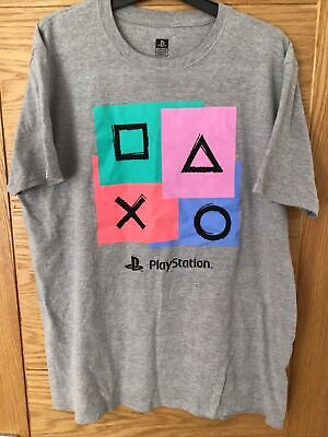 """£4.99 • Buy Men's Playstation T-Shirt Size XL Official Licensed Product Grey 46"""" Chest"""