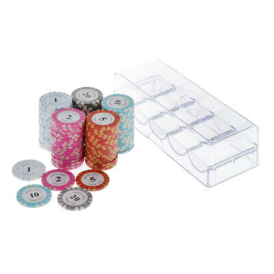 £27.28 • Buy Professional Poker Chips Set W/ Box Casino Supply Hilarious Games Accs A