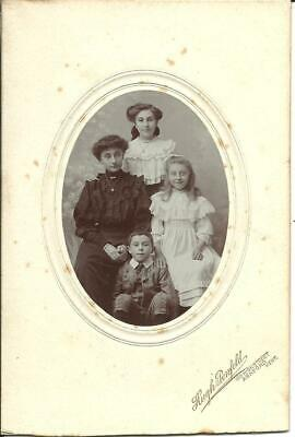 £0.99 • Buy VICTORIAN FAMILY, ASHFORD, KENT (REAL PHOTO OVAL PORTRAIT ON CARD) C1899