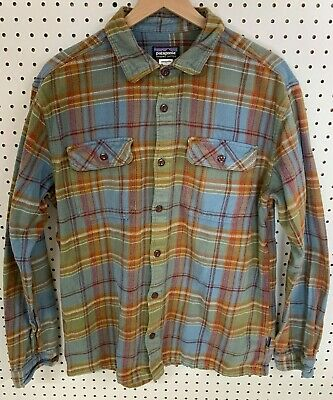 $38 • Buy Patagonia Mens Flannel Long Sleeve Thick Organic Cotton Button Shirt Board Sz L
