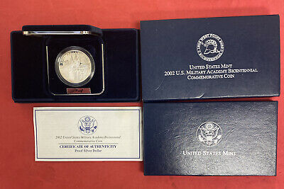 $29 • Buy 2002 US Military Academy Commemorative Proof Silver Dollar Coin COA Scientist
