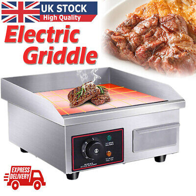 £86.98 • Buy Commercial Electric Griddle Kitchen Hotplate Countertop Kitchen BBQ Bacon Grill