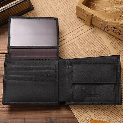 $ CDN13.29 • Buy 100% Genuine Leather Men Wallet Premium Product Real Cowhide Wallets For Man