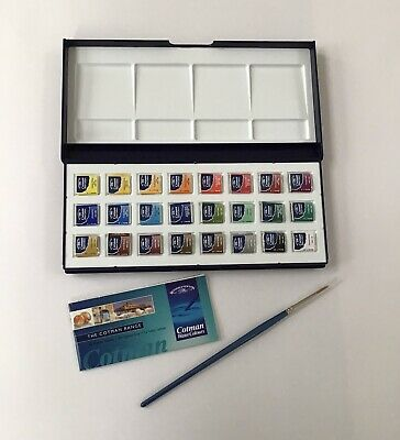 £11.99 • Buy Winsor & Newton Cotman Water Colours 24 Half Pan Unopened Paints With Brush