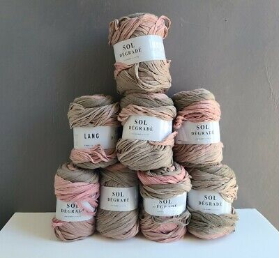 $55 • Buy SOL DEGRADE BY LANG YARNS Mauve Beige Multi-color Tape. Medium Weight: Lot Of 8