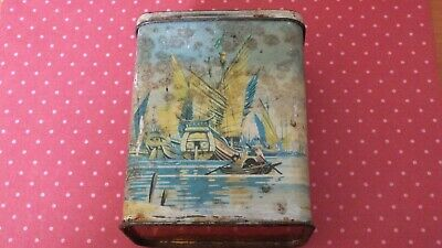 £0.99 • Buy Vintage Sweet Tin With Chinese Junk Boat Design
