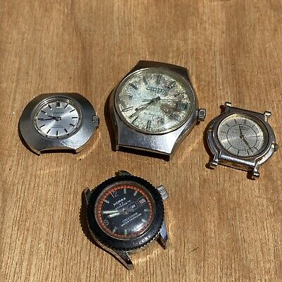 $ CDN1.48 • Buy Lot Of 4 Citizen Orient Seiko Diver Lady Boy Watches For Parts Or Repair Vintage
