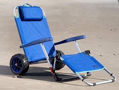 $125 • Buy Mac Sports 2-in-1 Beach Day Folding Lounge Chair+Cargo Cart For Outdoors