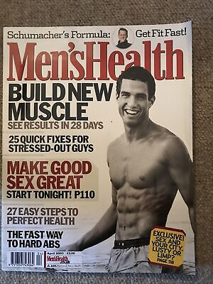 £1 • Buy Mens Health Magazine April 2003 Build New Muscle